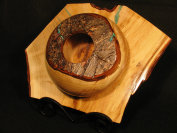 bowl on a plate tree croutch turning
